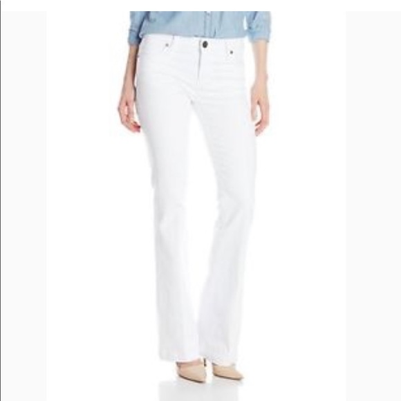 "Kut from the Kloth Denim - KUT from the Kloth White ""Selena"" Flare Jeans"